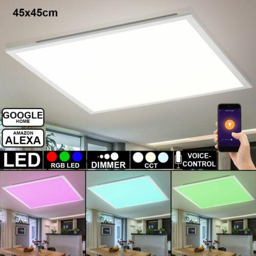Smart LED Decken Panel Aufbau Leuchte RGB Dimmer App Alexa Google Home Lampe