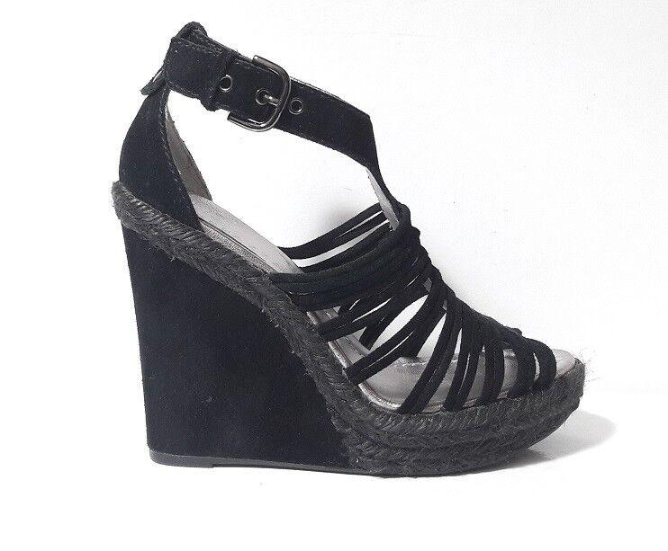 SANDALI zapatos mujer APEPAZZA 501449 LAMPEDUSA CAMOSCIO negro ZEPPA ALTA PLATEAU