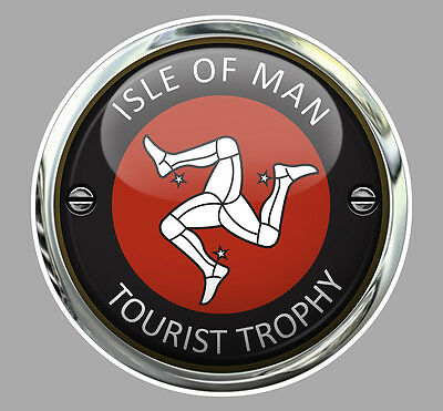 Badges, Insignes, Mascottes Automobilia Honest Isle Of Man Tourist Trophy Tt Ile De Man Biker 7,5cm Sticker Racing Track Ia087