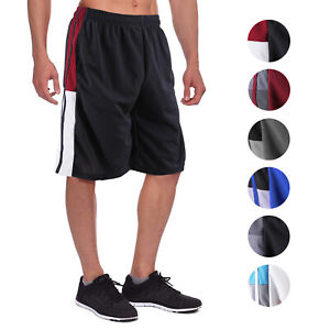 Men-039-s-Athletic-Mesh-Workout-Fitness-Training-Basketball-Sports-Gym-Shorts