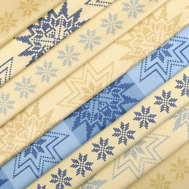 Moda,Natures Korb stoff packung x 8/quilt patchwork Scandi Nordisch Weihnachten