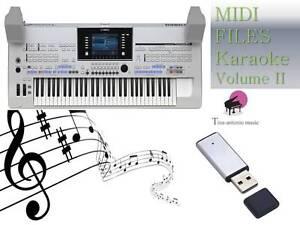MIDI File Karaoke USB stick for Tyros 4 NEW Volume 2