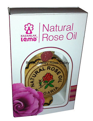 100% Pure Natural Rose Oil From Bulgaria , 1 mL With Certificate Essential Oil