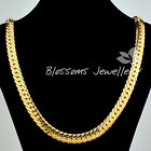 "SOLID 9K 9CT Yellow GOLD GF Open LINK Wide CHAIN NECKLACE 24"" S08B MENS WOMANS"