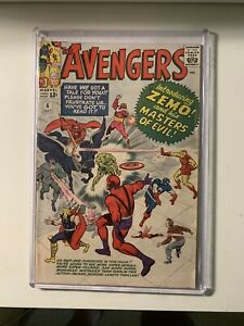 The-Avengers-6-6-0-FN-Condition-First-App-Baron-Zemo-Masters-of-Evil