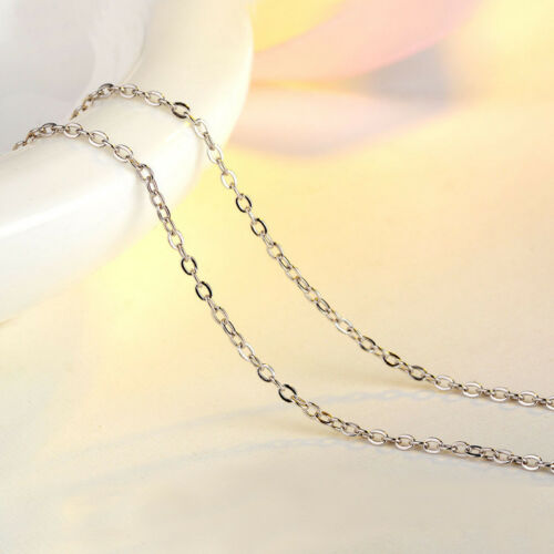 925 Silver Necklace Women Lady Long Chain Plated Silver Jewelry Lots Style New