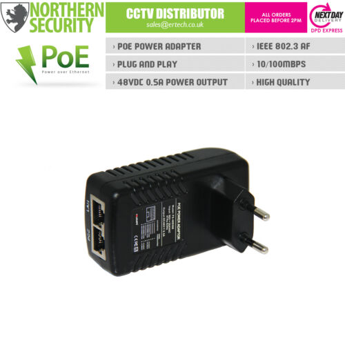 FOLKSAFE POE INJECTOR ADAPTER WALL PLUG POWER SUPPLY 60W DC-48V/1 25