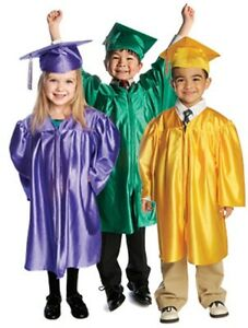 Childrens graduation gowns and hats 3 6 years kids costume with caps