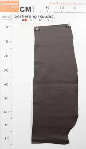 grau-braun 1,2-1,4 mm Lederreste Lederstücke #w001 Rindsleder Nappa schlamm