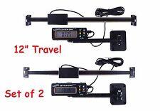 "2 Each EZ View 12"" 300 mm Digital Readout DRO Preset Articulating Remote Display"