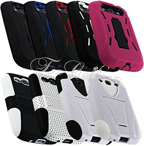 for-SAMSUNG-GALAXY-S3-SIII-HYBRID-IMPACT-RESISTANT-MESH-CASE-COVER-KICKSTAND-NEW