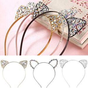 Cat-Ears-Rhinestone-Heart-Headband-Hair-Accessories-Band-Costume-Party-Cosplay