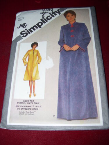 SIMPLICITY #9782-LADIES TWO LENGTH ORIENTAL INFLUENCED ROBE PATTERN  12-14-18//20