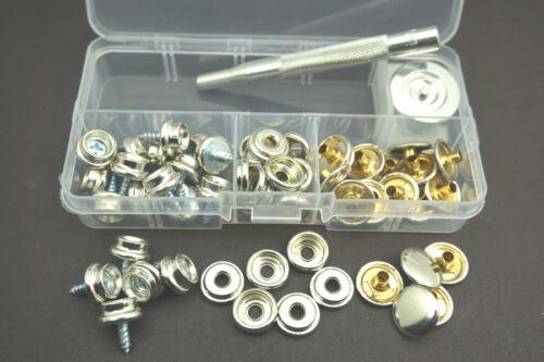 Tarp Tarpaulin Awning Tent Repair Kit plus Grommets Brass Eyelet Punch Stamp Set
