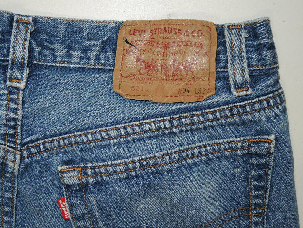 Vtg 90s Levi's 501 Jeans Made In USA Faded 32.5x2… - image 5