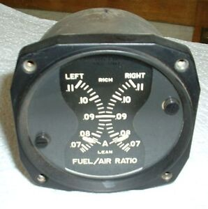 US WWII B-6A Fuel/Air Ratio Gauge