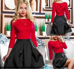 Sexy-Kleid-Boho-Mini-3-4-Armel-Mode-Party-Freizeit-Damen-36-38-40-42-S-M-L-XL