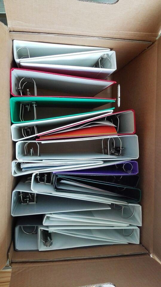 1.Brevordner mange forskelige farve bl. a nogl...