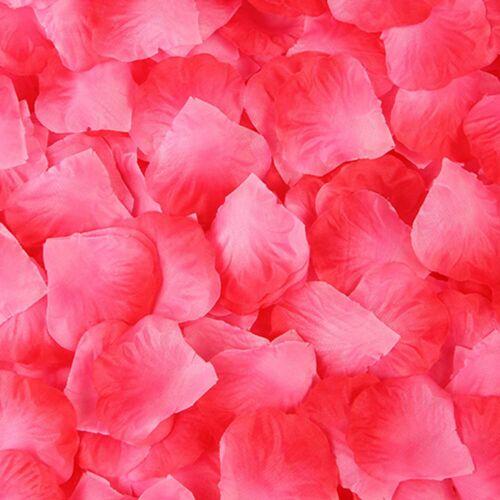 500pcs Artificial Silk Rose Petals Flowers Rose Wedding Flower Girl Basket Decor