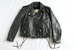 Schott-Perfecto-Leather-Jacket-Vintage-Womens-Riders-Motorcycle-12-USA-80s-90s
