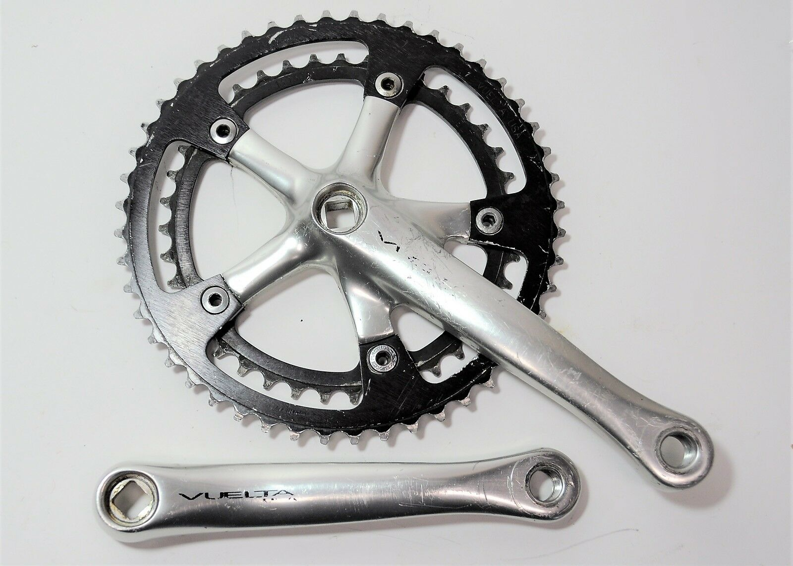 VINTAGE VUELTA USA BICYCLE 170  MM COMPACT 48 39 TOOTH CRANKSET 9 16 X 20 TPI  sale online discount low price