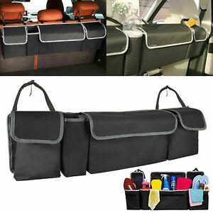 Universal Car Trunk Organizer Oxford Back Seat Storage Box Bag 4 Pocket Foldable