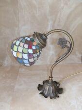 Lampada abatjour abat-jour in ottone vetro arlecchino 60 WATT LED