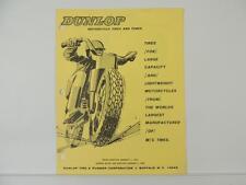 Vintage 1967 Dunlop Motorcycle Tire Catalog Price List Triumph Norton BSA L5513
