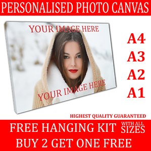 Your Photo Picture Image Printed /& Box Framed Large Personalised Canvas Prints