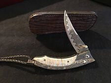 William Henry Fine Knives / W/H Studios B11 DMTW  Engraved  Retail $1850.00