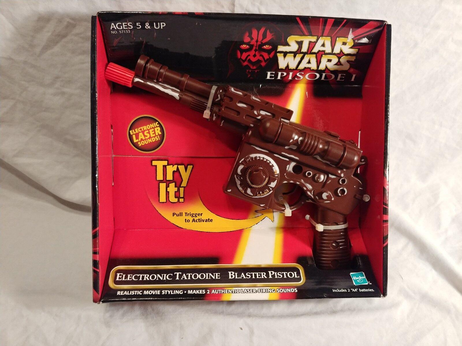 Star Wars Episode I Electronic Tatooine Blaster Pistol 1998