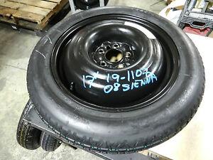 2004 2010 toyota sienna spare tire wheel donut 17 165 80 17 ebay. Black Bedroom Furniture Sets. Home Design Ideas
