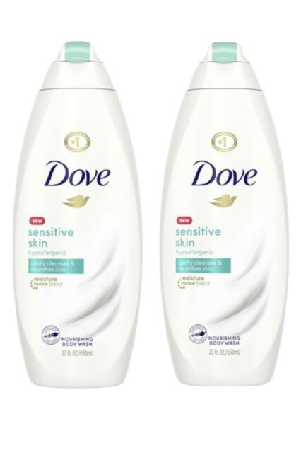Two Dove Body Wash Sensitive Skin Sulfate Smoothing Hypoallergenic 2ct 22oz For Sale Online Ebay