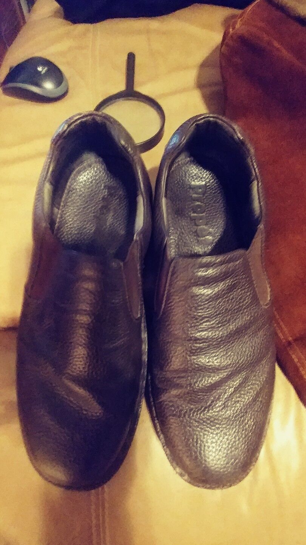 Propet Galway Walker Slip On Brown Leather Loafer shoes Men's SIZE 11 3E M4077