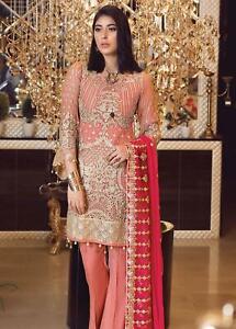 Indian-Pakistani-Salwar-Kameez-Suit-Dress-Party-Wedding-Designer-Pink-Shamrock