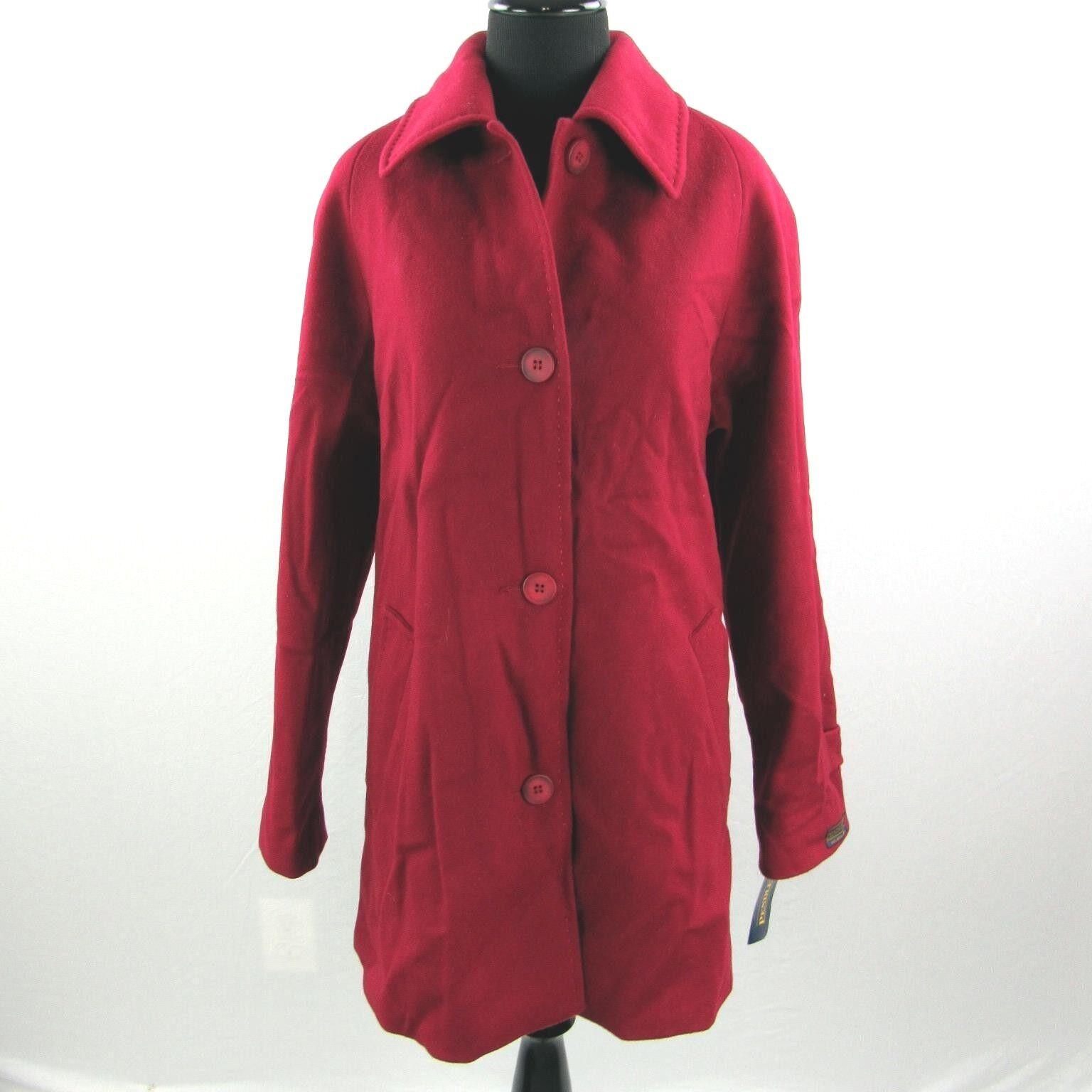 NEW Pendleton Merino Wool Winter Coat Womens Size 8 Dark Red NWT