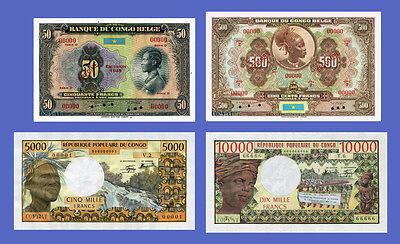 Reproductions DJIBOUTI Lots of 3 notes 1000...5000 Francs