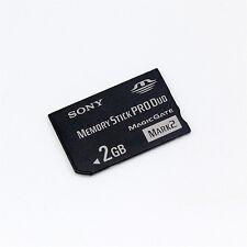 Genuine Sony 2GB Memory Stick PRO Duo, MS 2GB For Sony Camera/Recorder/PSP.