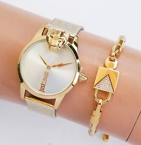 Just-Cavalli-jc1l057m0285-jc-shine-armbanduhr-damenuhr-meshband-zweifarbig-neu