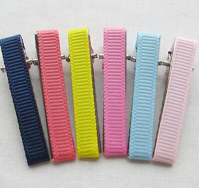 40PCS 32MM Prong Hair Clips Hairclips Covered //Grosgrain Ribbon Craft 4 Kids