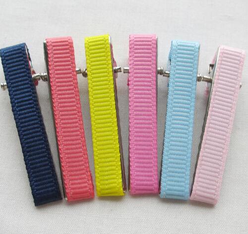 40PCS 40MM Prong Hair Clips Hairclips Covered //Grosgrain Ribbon Craft 4 Kids