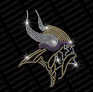 679d5733c Image is loading NFL-MN-Minnesota-Vikings-Bling-Iron-on-Rhinestone-