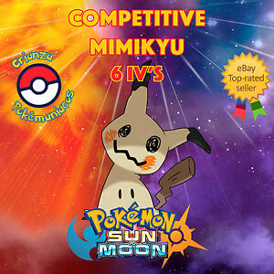 Pokemon-SUN-amp-MOON-COMPETITIVE-MIMIKYU-6IVS-Shiny-No-Shiny