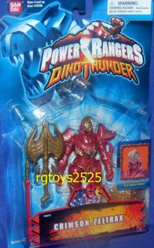 Power Rangers Dino Thunder Crimson Zeltrax New Factory Sealed 2003
