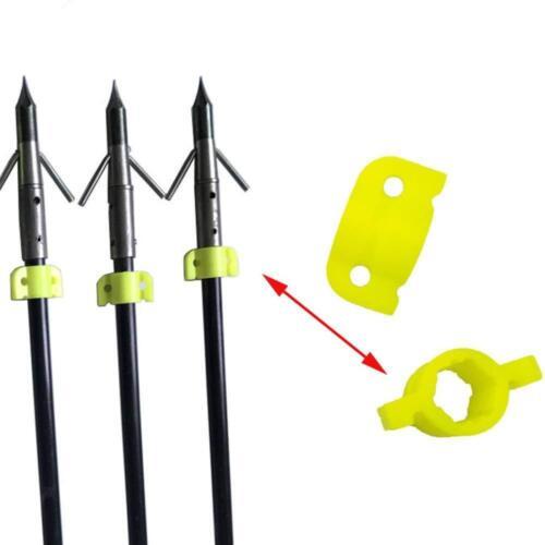 10 Stück Kunststoff Bowfishing Pfeil Sicherheitsfolien für 8mm Pfeil Welle