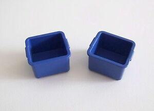 1167 PLAYMOBIL Lot de 2 Caisses Bleues Camion Livraison Magasin 3204