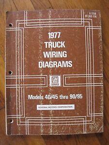 1977 Chevrolet GMC Truck Wiring Diagrams 40 45 50 60 65 70 ...