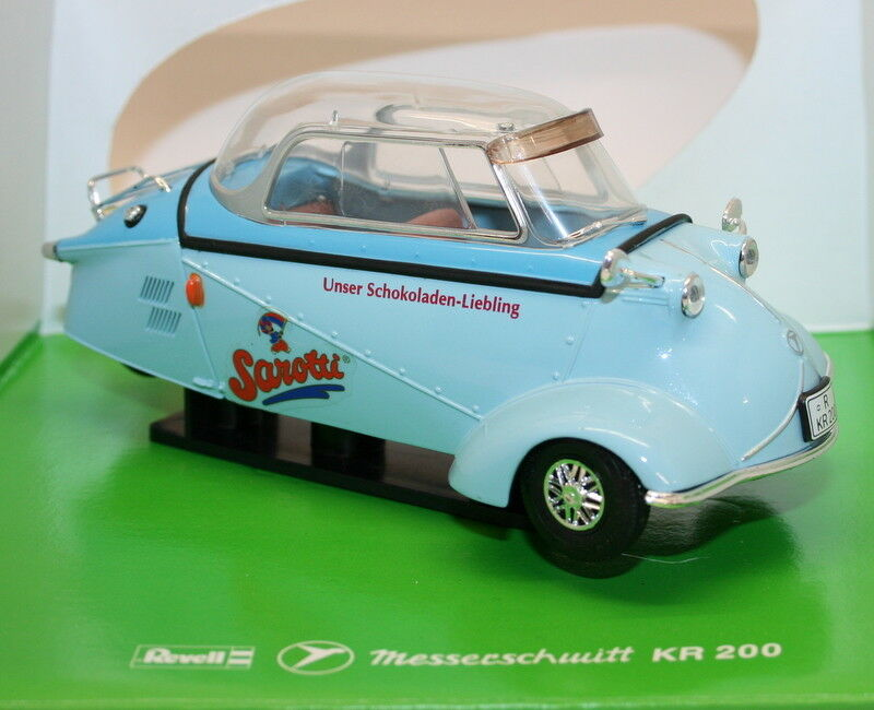 REVELL 1 18 SCALA DIECAST MODELLO AUTO 08964-Messerschmitt KR200 Sarotti Blu