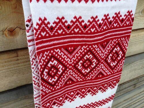200x30cm Ukraine RUSHNYK Red Embroidery Homespun Cloth Rustic WEDDING Towel