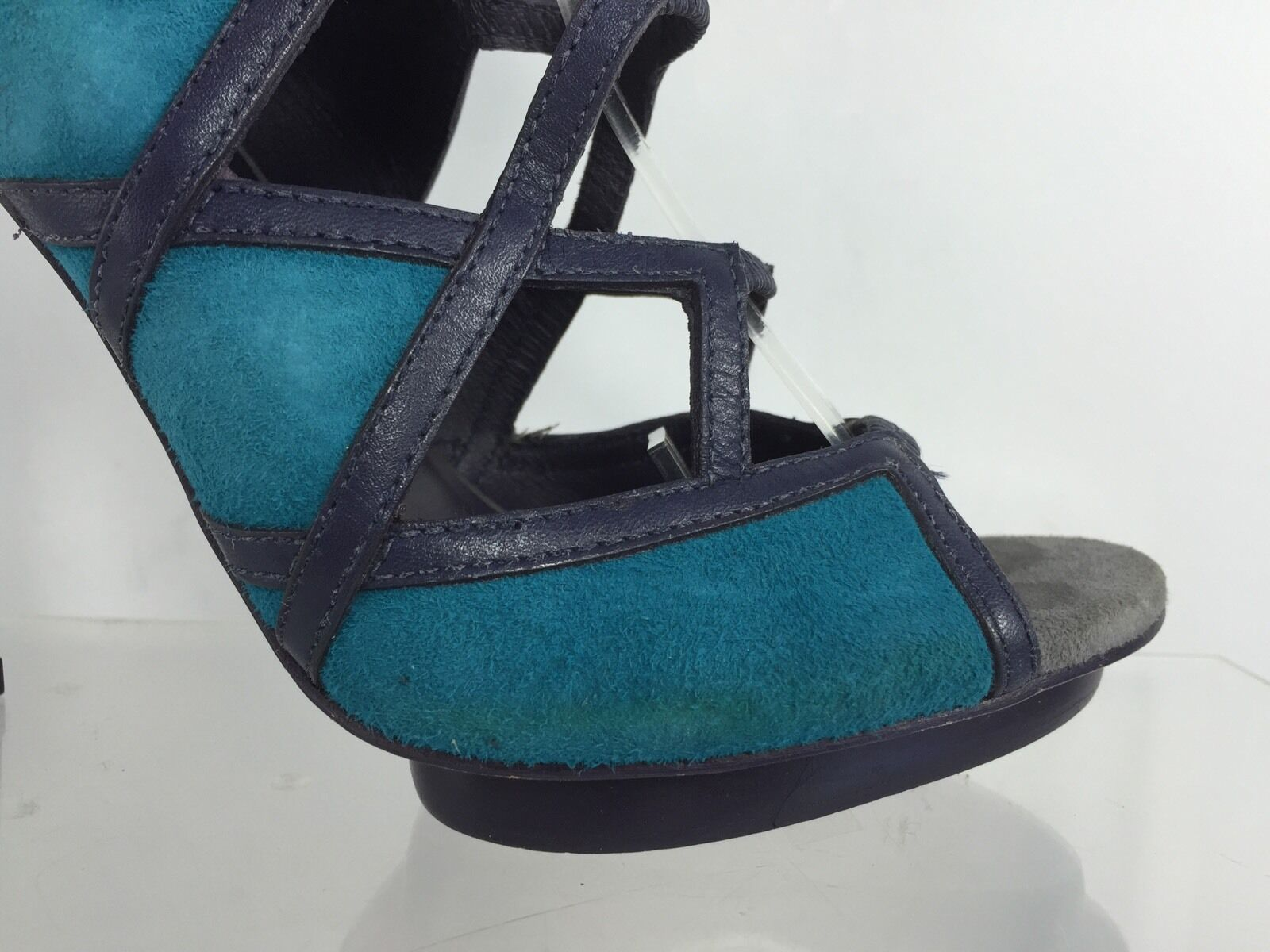 Tory Tory Tory Burch Mujer Zapatos De Tacón Cuero gris Multi Color de 7 M 8e2abe